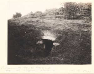 The entrance into the passage tomb at Dowth, Co. Meath by Hogg, A R, 1900 © Victoria and Albert Museum, London
