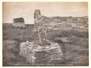 Cross, Inishmurry, Co. Sligo, Welch, R, 1897 © Victoria and Albert Museum, London