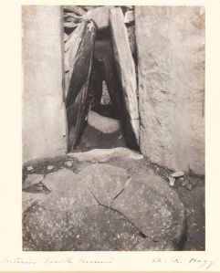 Interior of Dowth Passage Tomb, by Hogg, A R, 1900 © Victoria and Albert Museum, London