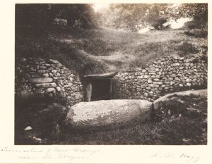 Entrance into Newgrange, Co. Meath, 1900, by Hogg, A R © Victoria and Albert Museum