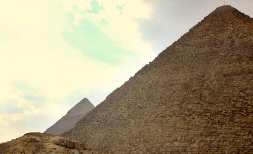 Khufu's Great Pyramid with Khafre's Pyramid behind. © Rory Gavin
