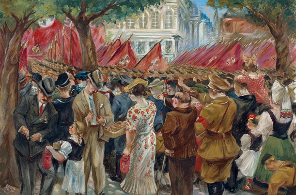 Propaganda Painting This painting from 1944 by Adolf Wegener is called The Third Reich. Wegener studied at the School of Applied Arts and the Berlin Academy.