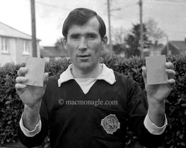 A picture by MacMonagle Photography of Weeshie Fogarty. Did you know that in 1979 Weeshie was a top class referee but one of his many claims to fame, is that he was the first ref in history to flash the red card in a GAA match? Weeshie continues to record history with his award winning Terrace Talk programme on Radio Kerry.